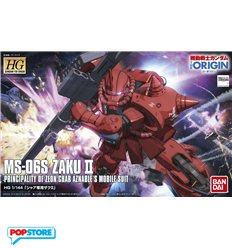 Bandai - HG High Grade Char Aznable Zaku II, The Origin - 1/144