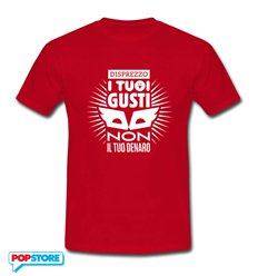 QUINDICI - T-Shirt Disprezzo Rossa