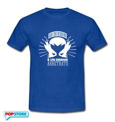 QUINDICI - T-Shirt Desiderio Ordine Arretrato Blu Royal