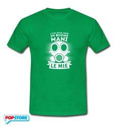 QUINDICI - T-Shirt Gasmask Buone Mani Irish Green