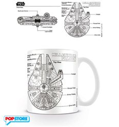 Star Wars - Millennium Falcon Sketch (Tazza)
