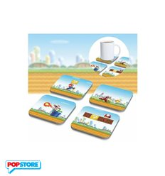 Nintendo Gadget - Super Mario Bros - Set 8 Sottobicchieri 3d