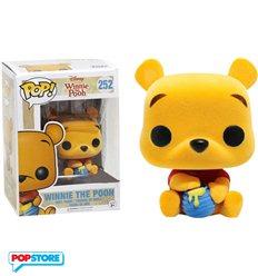 Disney Winnie The Pooh - Pop Funko Vinyl Figure 252 Flocked Seated The Pooh