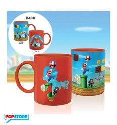 Paladone - Nintendo - Super Mario Bros. - Tazza Heat Change Mug Level