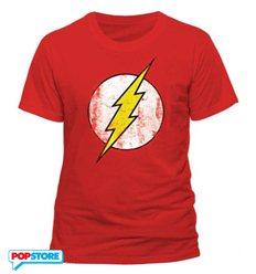 DC Comics T-Shirt - Flash Logo Distressed L