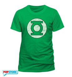 DC Comics T-Shirt - Green Lantern Distressed Logo S