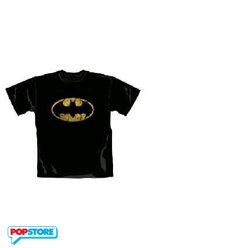 DC Comics T-Shirt - Batman Distressed Shield Nera M