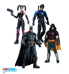DC Collectibles Pack Harley Quinn Batman Nightwing Robin