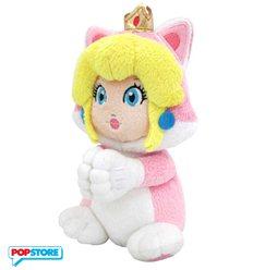 Nintendo Gadget - Peluche Piccolo Principessa Peach Gatto Con Manine Magnetiche