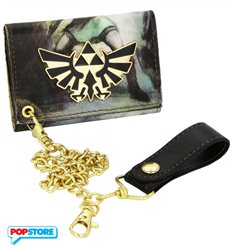 Nintendo Gadget - All Over Printed Zelda Trifold Chain Twilight (Portafoglio)