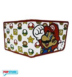 Nintendo Gadget - Mushroom Pattern With Mario Bifold (Portafoglio)