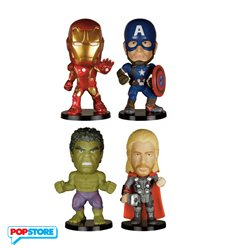 Funko Wobbler Mini - Marvel - Avengers Age Of Ultron Bobble Head Pack 4 Pezzi