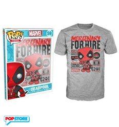 Funko Pop T-Shirt - Marvel - Deadpool Mercenary For Hire - Xl