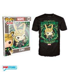 Funko Pop T-Shirt - Marvel - Loki - L
