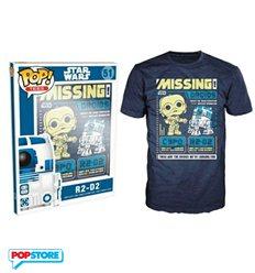 Funko Pop T-Shirt - Star Wars - R2-D2 Droids - L