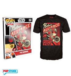 Funko Pop T-Shirt - Star Wars - Poe Dameron - L