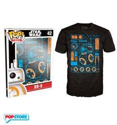 Funko Pop T-Shirt - Star Wars - Bb-8 Blueprint - L