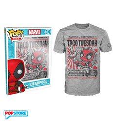 Funko Pop T-Shirt - Marvel - Deadpool Tacos - M