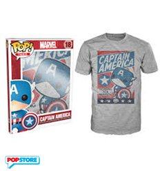 Funko Pop T-Shirt - Marvel - Captain America - Xl