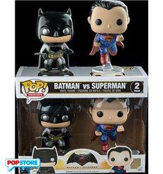 Funko Pop! - Batman V Superman - 2 Pack Batman And Superman Metallic Version