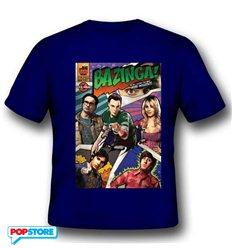 2Bnerd T-Shirt - The Big Bang Theory - Bazinga Comic Book Cover M