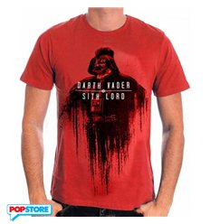 Cotton Division T-Shirt - Star Wars Rogue One - Vader Fade To Red L