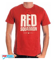 Cotton Division T-Shirt - Star Wars Rogue One - Red Squadron S