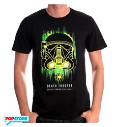 Cotton Division T-Shirt - Star Wars Rogue One - Death Trooper Neon L