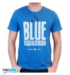 Cotton Division T-Shirt - Star Wars Rogue One - Blue Squadron Xl