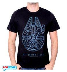 Cotton Division T-Shirt - Star Wars Episode Vii - Millennium Falcon L