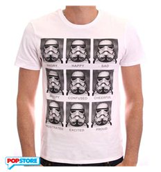 Cotton Division T-Shirt - Star Wars - Stormtrooper Emotions L