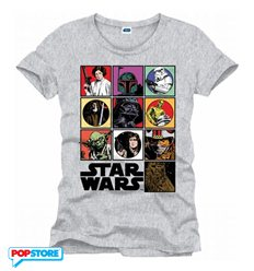 Cotton Division T-Shirt - Star Wars - Icons Grey S