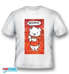 2Bnerd - The Big Bang Theory T-Shirt - Bazinga Cartoon Dog Xxl