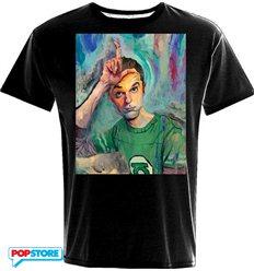 2Bnerd - The Big Bang Theory T-Shirt - Sheldon Art Loser Xl