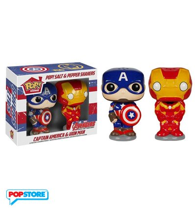 Funko Pop! Home - Marvel Comics - Salt And Pepper Avengers