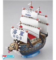 Bandai - One Piece - Grand Ship Collection 08 Piccola - Garp'S War Ship - Bandai Model Kit
