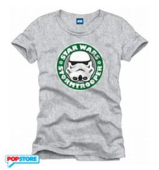 Cotton Division - Star Wars T-Shirt - Stormtrooper Coffee Xl
