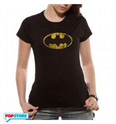 DC Comics T-Shirt - Batman Logo Mono Distressed S