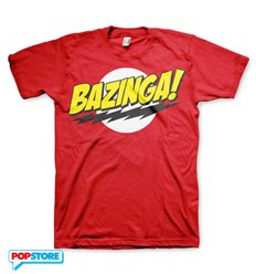 The Big Bang Theory T-Shirt - Bazinga Rossa L