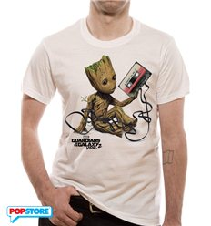 Marvel T-Shirt - Guardians Of The Galaxy 2 Groot & Tape M