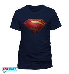 DC Comics T-Shirt - Superman Man Of Steel Textured Logo L