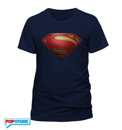 DC Comics T-Shirt - Superman Man Of Steel Textured Logo XL