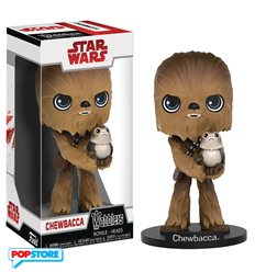 Funko Wobbler - Star Wars The Last Jedi - Chewbacca With Porg 15cm