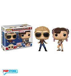 Funko Pop! - Marvel vs Capcom 2 Pack - Captain Marvel Vs Chun-Li