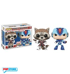Funko Pop! - Marvel vs Capcom 2 Pack – Rocket Raccoon Vs Megaman X