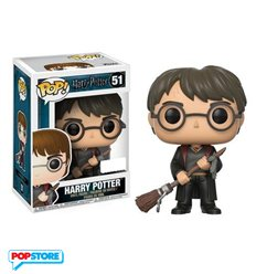 Funko Pop! - Harry Potter - Harry Potter With Firebolt & Feather Exclusive