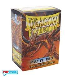 100 Bustine Dragon Shield - Matte Red