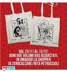 Shopper Zerocalcare/RitaPetruccioli  in omaggio con due volumi Bao Publishing